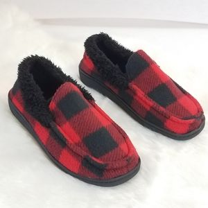 Climate Cool Plaid Fleece Slippers